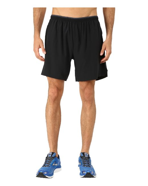"Brooks   Black Sherpa 7"" 2-in-1 Shorts for Men   Lyst"