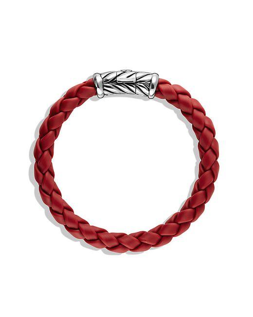 David Yurman   Metallic Chevron Bracelet In Red for Men   Lyst