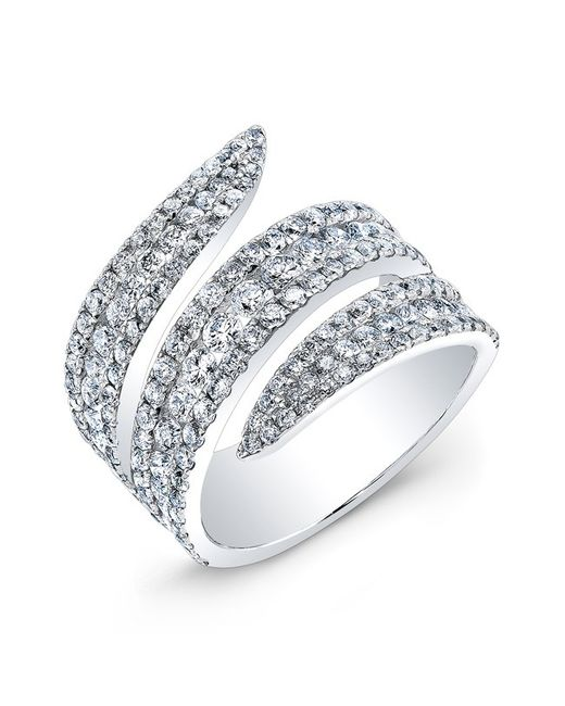 Anne Sisteron | Metallic 18kt White Gold Diamond Serpent Ring | Lyst