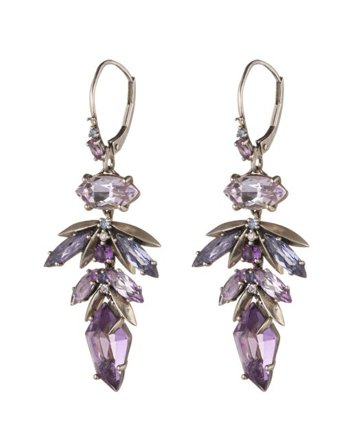 Alexis Bittar | Purple Velvet Marquis Leaf Drop Earring You Might Also Like | Lyst