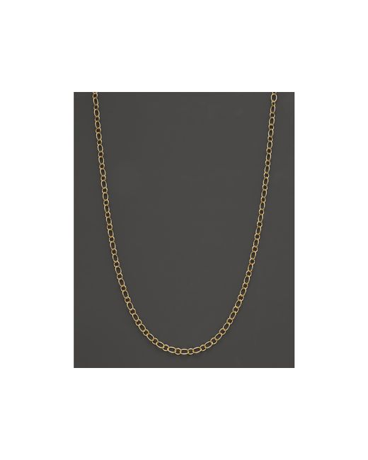 Temple St. Clair | Metallic 18k Yellow Gold Ribbon Chain Necklace, 18"