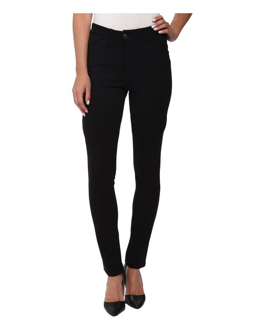 Jag Jeans | Black Rowan Mid Rise Slim Double Knit Ponte | Lyst