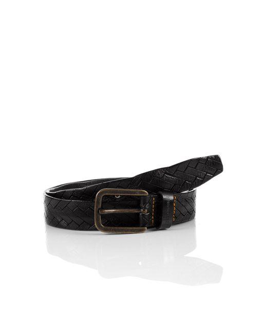 BOSS Orange | Black Leather Belt 'jonasio' for Men | Lyst