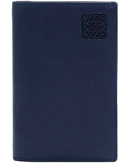 Loewe | Blue Foldover Leather Card Holder | Lyst