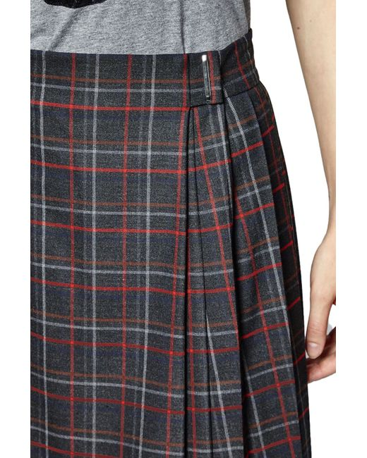 connection soho check pleated skirt in lyst