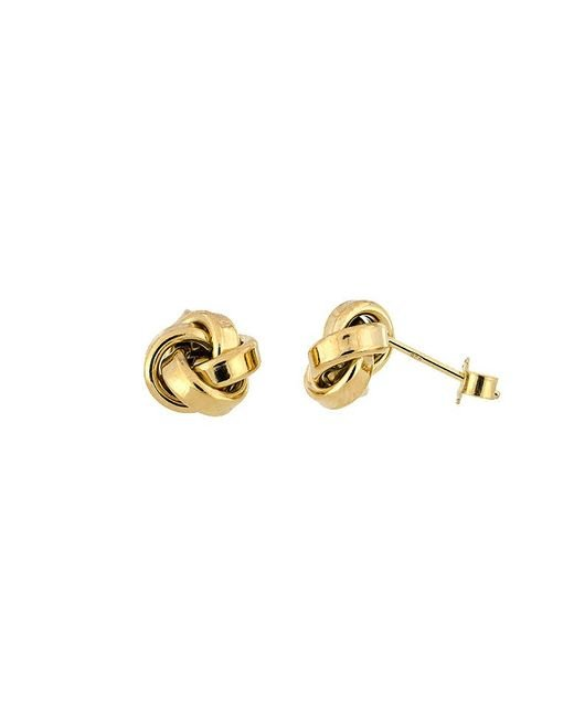 Azendi | Metallic Yellow Vermeil Knot Earrings | Lyst