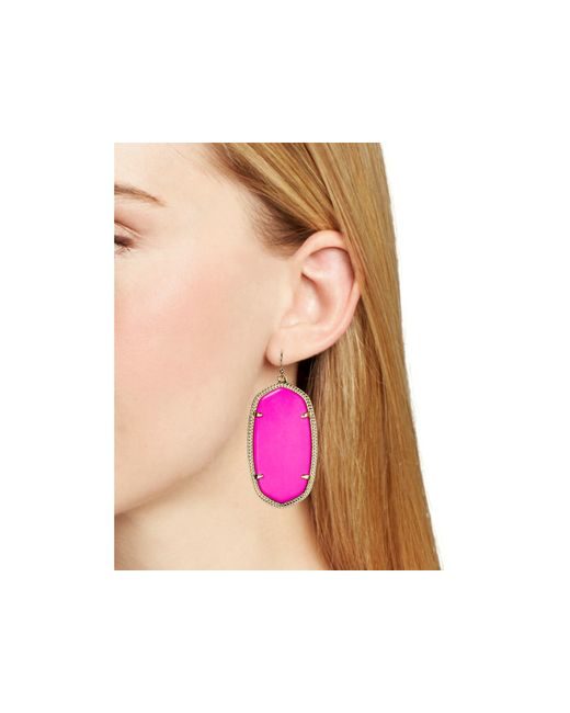 Kendra Scott | Purple Danielle Earrings | Lyst