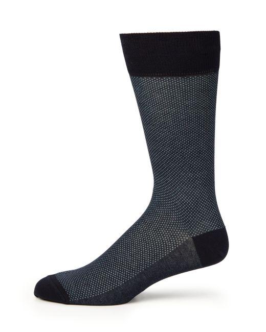 Saks Fifth Avenue | Blue Bird's Eye Dress Socks for Men | Lyst