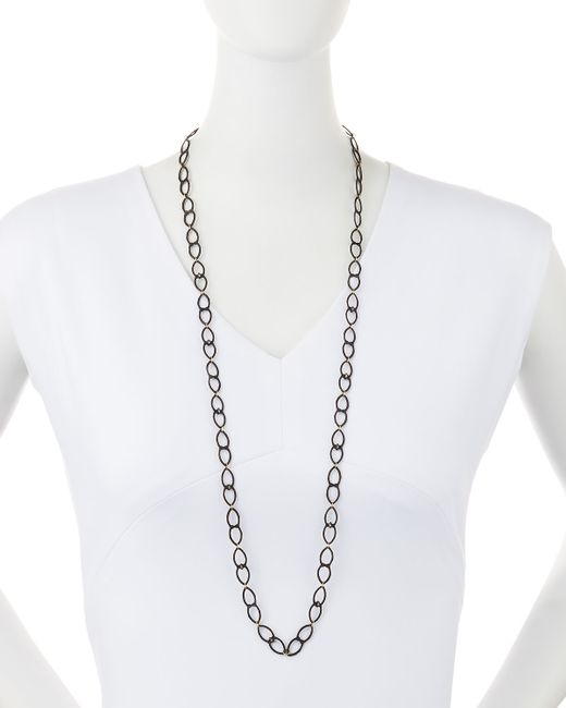 Armenta | Black Old World Open Shield Link Necklace | Lyst