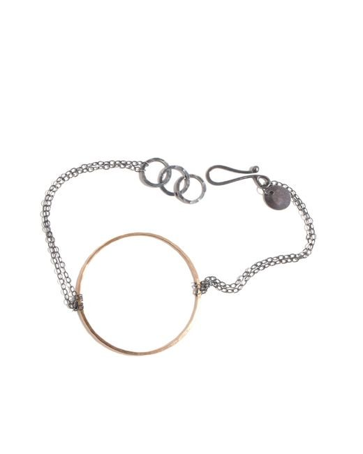 Melissa Joy Manning | Metallic Forged Gold Circle Bracelet | Lyst