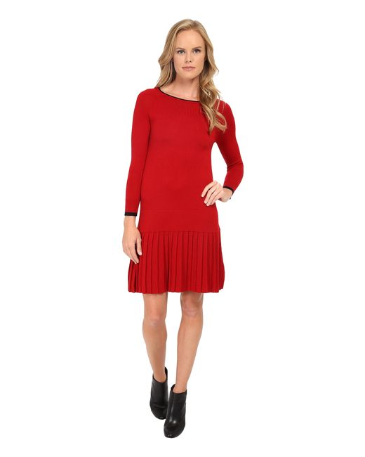 Shoshanna | Red Lisette Sweater Dress | Lyst