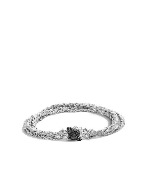 John Hardy | Metallic Small Multi - Strand Bracelet With Black Sapphire | Lyst