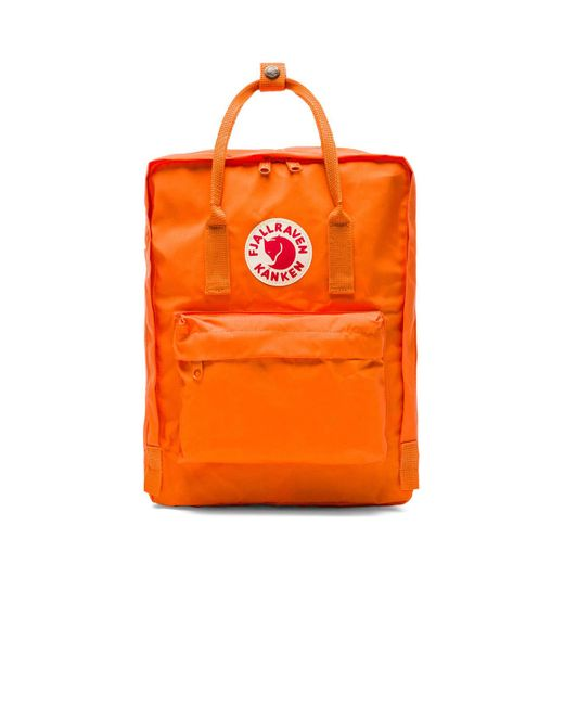 Fjallraven | Orange Kanken for Men | Lyst