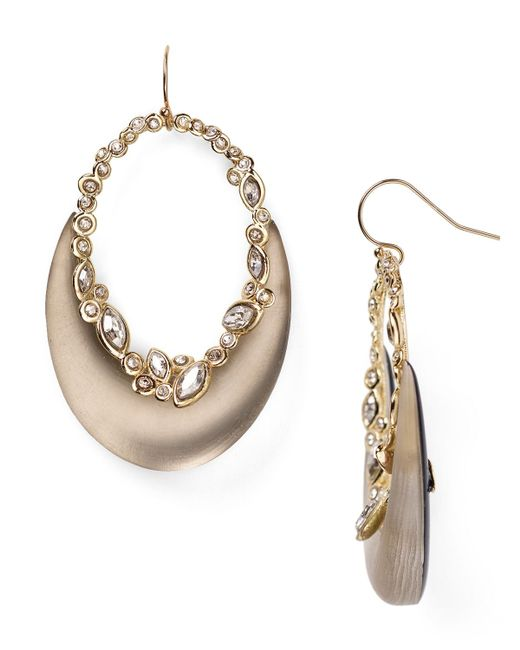 Alexis Bittar | Gray Lucite & Crystal Lace Crescent Earrings | Lyst
