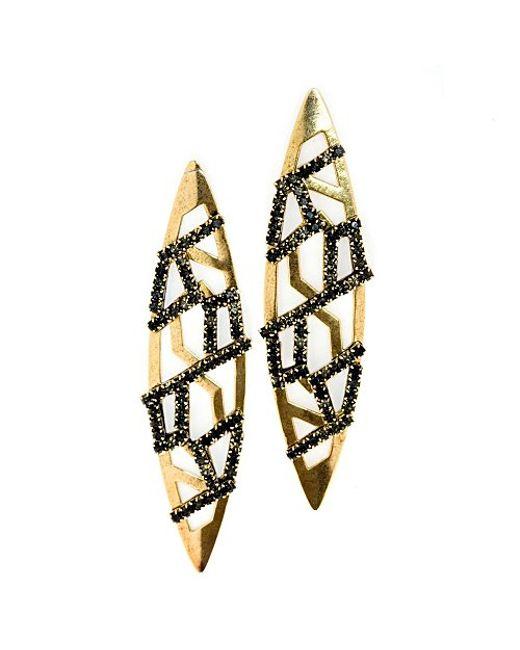 Nicole Romano   Yellow Fuhua Earrings   Lyst