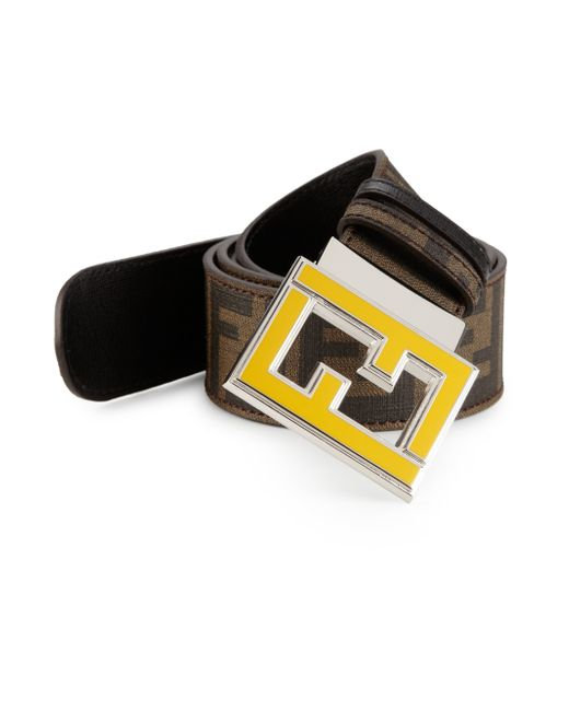 Fendi | Yellow Zucca Reversible Belt for Men | Lyst