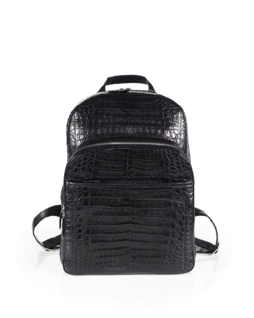 Santiago Gonzalez | Gray Crocodile Backpack for Men | Lyst