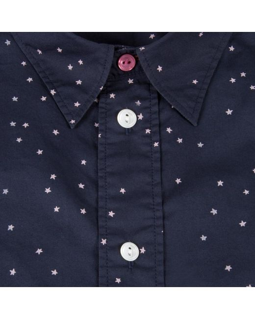 Paul Smith Men S Navy Stars And Moon Print Shirt In Blue