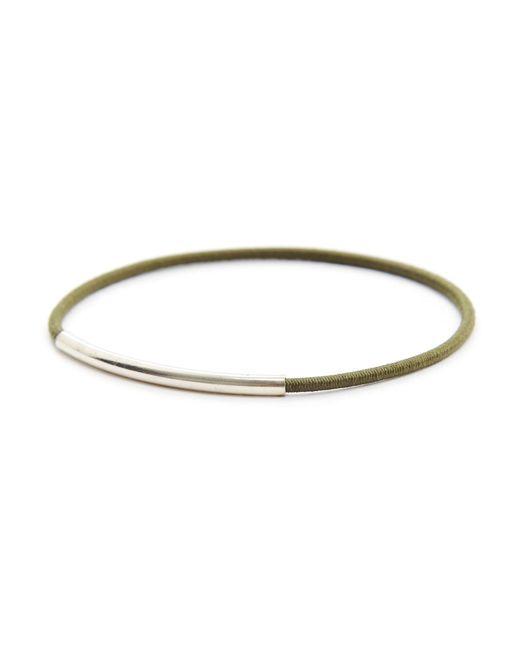 Gilbert Gilbert | Natural Tube Khaki Bracelet | Lyst