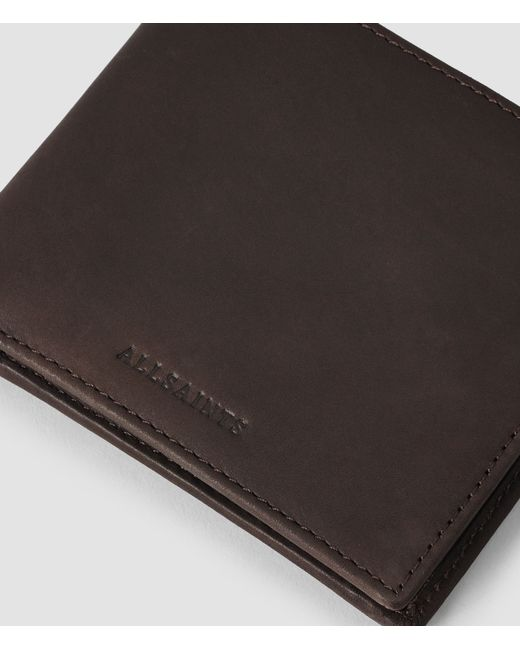 AllSaints | Brown Blyth Leather Wallet Usa Usa for Men | Lyst