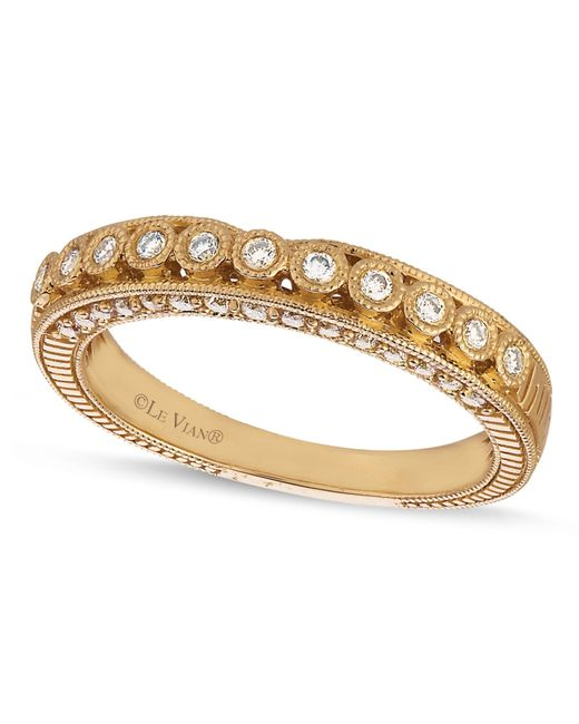 Le Vian | Metallic Diamond Diamond Wedding Band (1/4 Ct. T.w.) In 14k Gold | Lyst