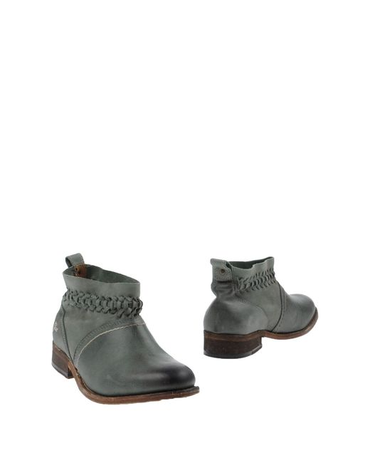 Gas Ankle Boots In Green | Lyst
