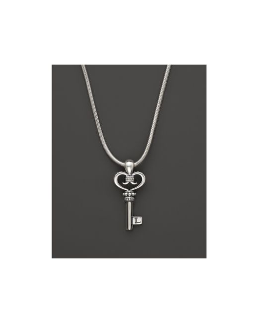 Lagos | Metallic Sterling Silver Small Signature Key Pendant Necklace, 16"