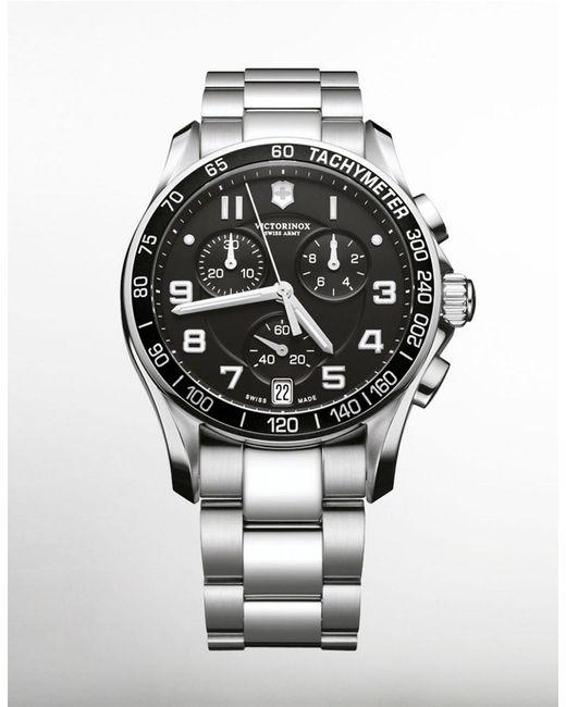 Victorinox   Metallic 241650 Men's Classic Xls Chronograph Bracelet Strap Watch for Men   Lyst