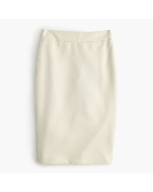 j crew no 2 pencil skirt in serge wool in white