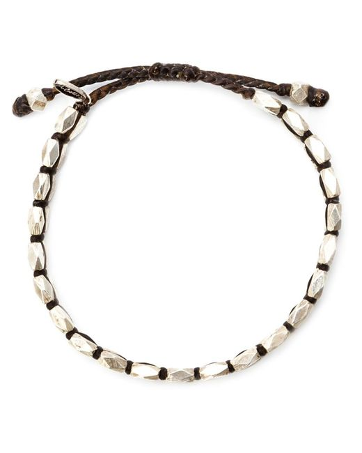 M. Cohen | Metallic Faceted Bead Bracelet for Men | Lyst