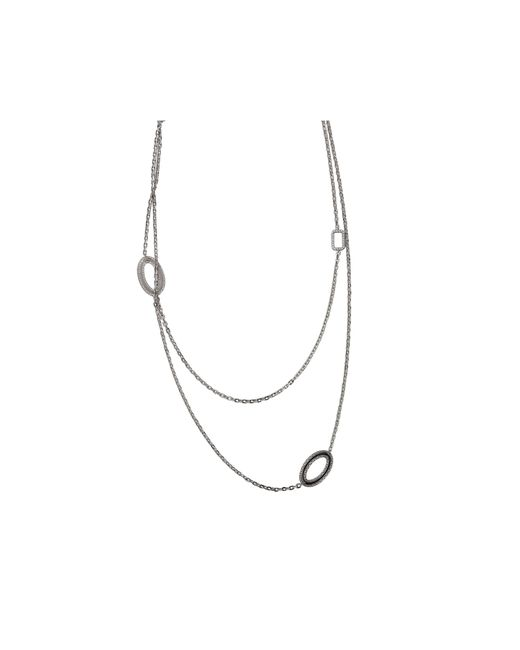 Rebecca | Metallic Elizabeth Long Circle Stone Necklace | Lyst