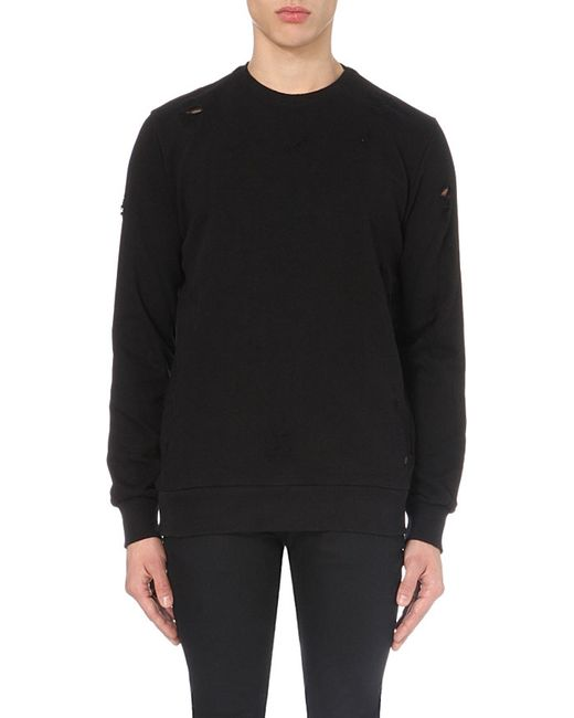 Criminal Damage | Black Shoreditch Cotton-jersey Sweatshirt for Men | Lyst