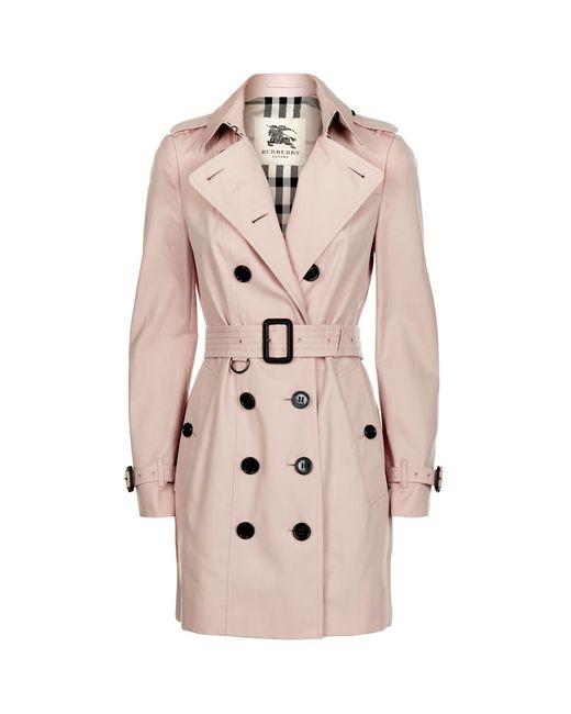Womens Burberry Sandringham Mid Slim Trench Coat, Size 12 US 46 IT - Beige