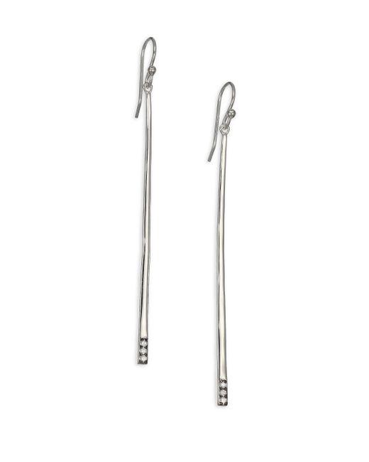 Ippolita | Metallic Glamazon Stardust Diamond & Sterling Silver Bar Drop Earrings | Lyst