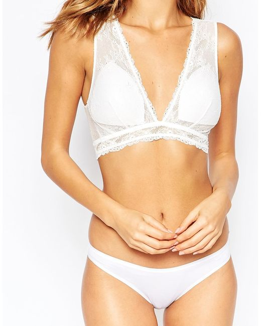 Fashion forms Triangle Peekaboo Back Bridal Bra in White ...