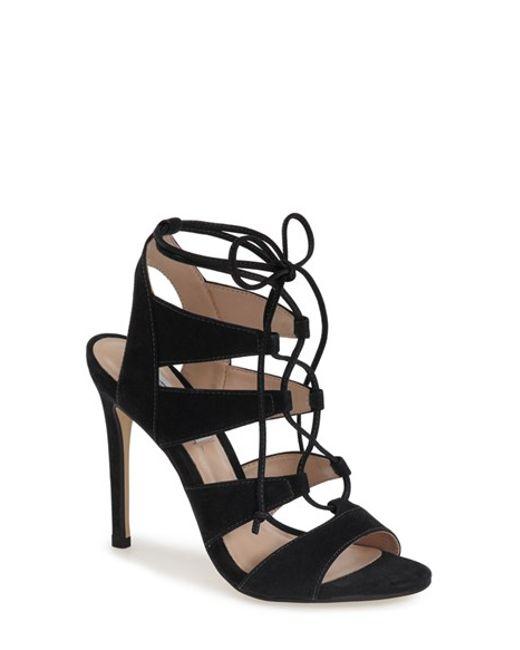Steve Madden | Black 'sandalia' Sandal | Lyst