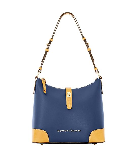 Dooney & Bourke | Blue Claremont Two-tone Leather Hobo Bag | Lyst