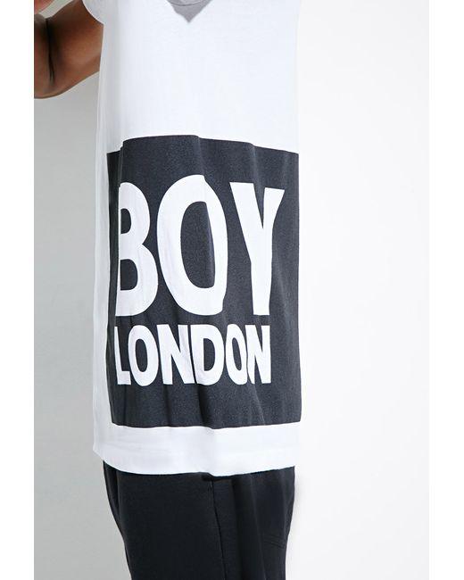 Forever 21 | Black Boy London Box Logo Tee for Men | Lyst
