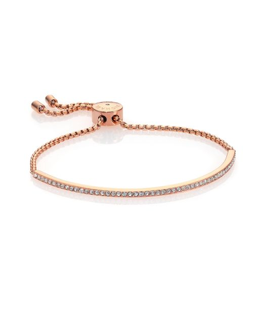 Michael Kors | Pink Brilliance Statement Pave Bar Bracelet/rose Goldtone | Lyst