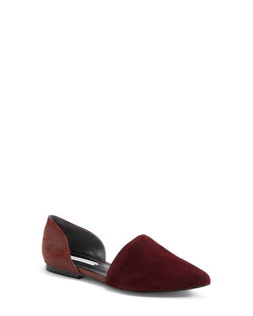 Charles David | Purple 'kenny' Pointy Toe D'orsay Flat | Lyst