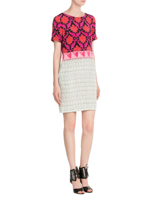 Mary Katrantzou | Pink Printed Silk Dress - Multicolor | Lyst