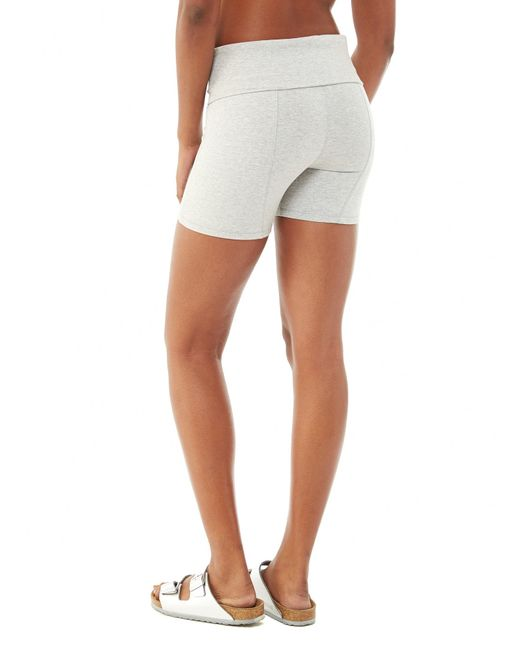 Alternative Apparel | Gray Pull Up Spandex Jersey Shorts | Lyst