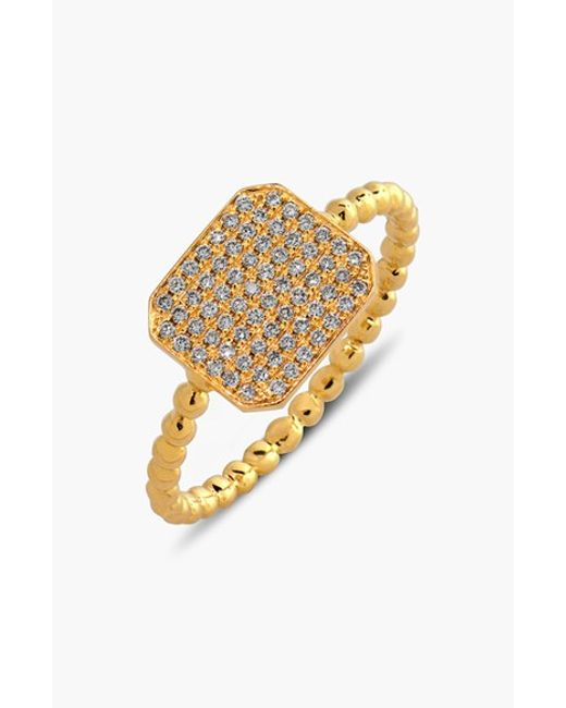 Bony Levy | Metallic 'aurora' Diamond Pave Rectangle Ring (limited Edition) (nordstrom Exclusive) | Lyst