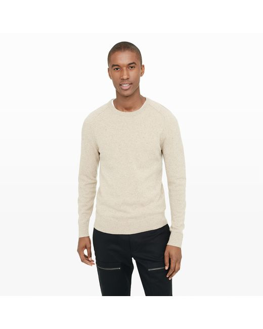 Club Monaco | Natural Donegal Crew Sweater for Men | Lyst