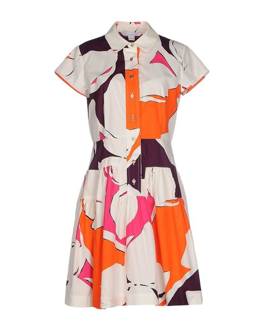 Diane von Furstenberg | Orange Short Dress | Lyst