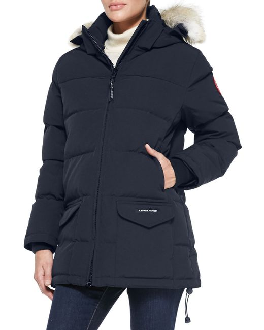 Canada Goose   Black Solaris Fur-hood Parka Coat   Lyst