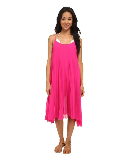 Bleu Rod Beattie | Pink Over The Edge A-line Pleated Dress | Lyst
