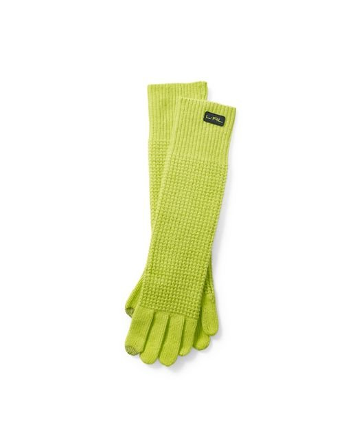 Pink Pony | Green Waffled Touch Screen Gloves | Lyst