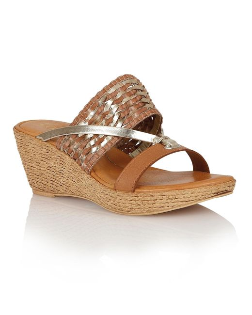 Lotus | Natural Fabrizia Wedge Sandals | Lyst