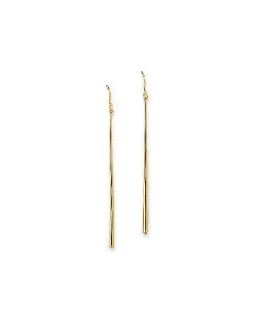 Ippolita   Metallic 18k Gold Glamazon Thin Elongated Earrings   Lyst